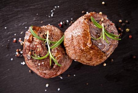Beef steaks 스톡 콘텐츠