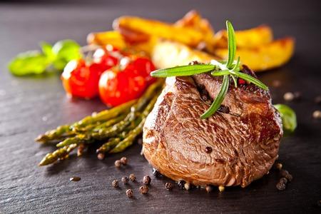 black stone: Beef steak