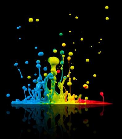 Claboussures colorées Banque d'images - 32686080