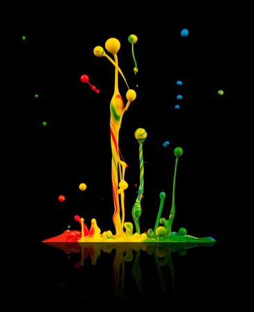 Colored splashes photo