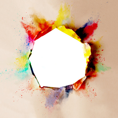 colored paper: Cracked paper with colored borders