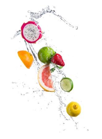 Fruit in splash 스톡 콘텐츠