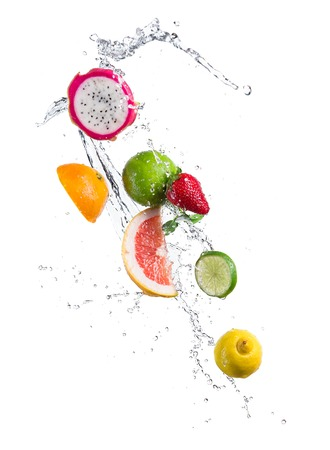 Fruit in splash Standard-Bild