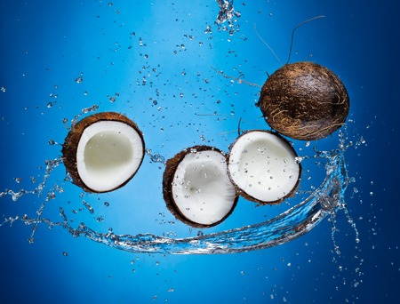 Coconuts in splashes photo