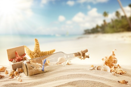 Summer beach 스톡 콘텐츠