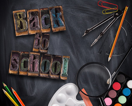 educational tools: Concept of educational tools with blackboard