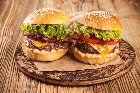 pomme: Home made hamburgers Stock Photo