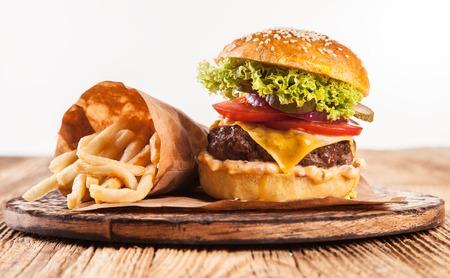 Home made hamburgers photo