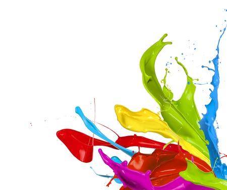 Claboussures colorées en forme abstraite, isolé sur fond blanc Banque d'images - 32176181