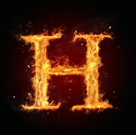 fire letter: Fire letter H