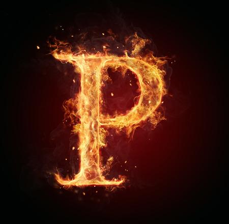 fire: Fire letter P