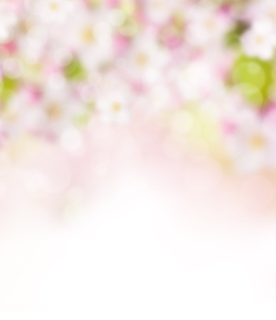 Abstracte onscherpe voorjaar achtergrond met spotjes Stockfoto