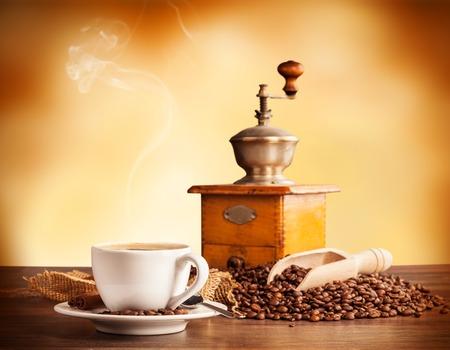 テキスト用の空きのコーヒーの静物
