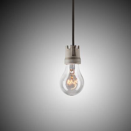 kilowatt: Light bulb hanging on wire
