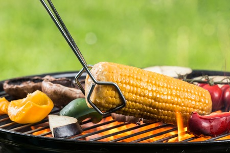 shishkabab: Delicious vegetable on grill