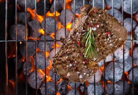 Beef steak roasted on grill