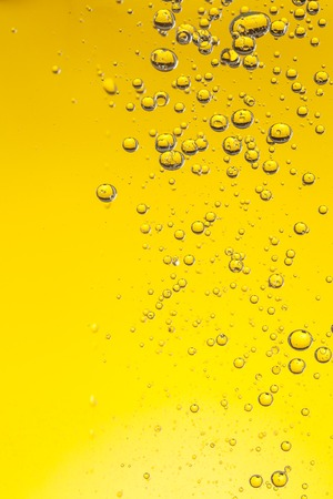 Macro photo of oil bubbles in water Stock Photo