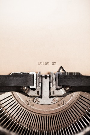 vintage letters: Detail of retro typewriter with message