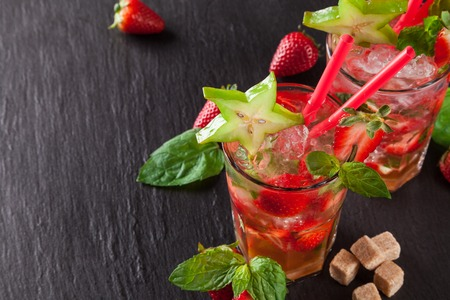 strawberry: Summer cocktails Stock Photo