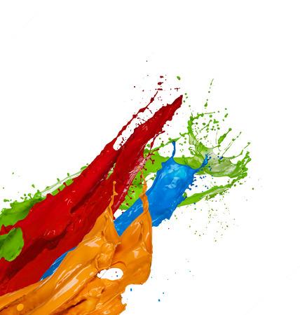 Claboussures de peinture de couleur isolé sur fond blanc Banque d'images - 43613545