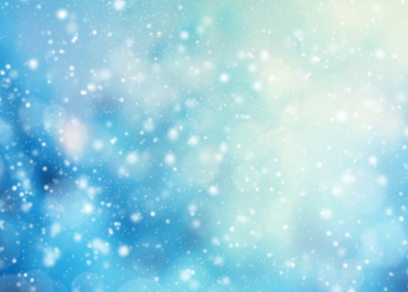 christmas winter: Abstract snowy blur winter background with spotlights Stock Photo