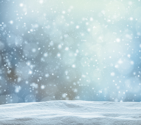 rural scenes: Winter snowy abstract background with pile of snow