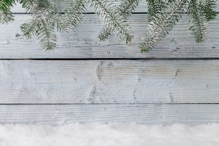 christmas light: Winter snowy background with copyspace for text Stock Photo