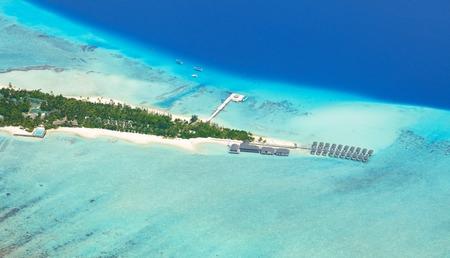 maldives island: Aerial view on beautiful Maldives island in Raa atol