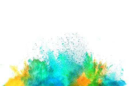 Explosion de poudre de couleur, isolé sur fond blanc Banque d'images - 56715968