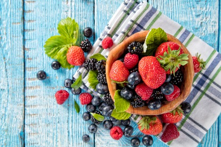 Berries Bowl Stock Photos And Images 123rf
