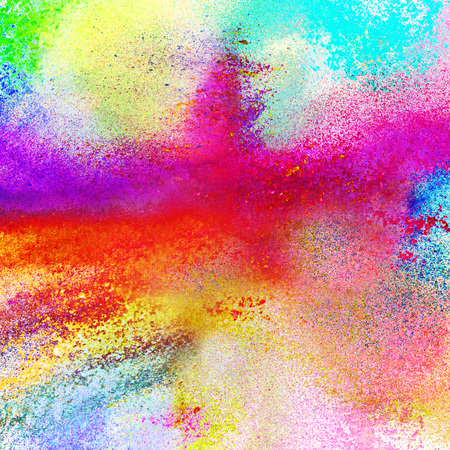 Abstract multi colored powder background
