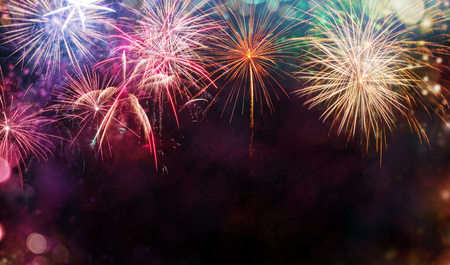 Abstract colored firework background with free space for text Banque d'images