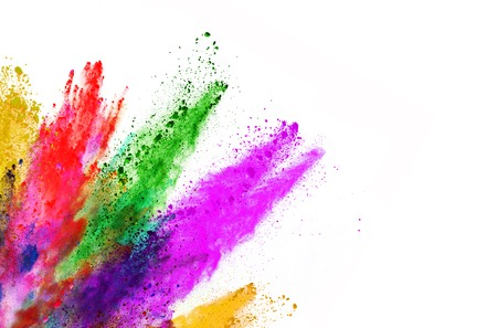 Explosion of colored powder, isolated on white background Imagens - 66307874