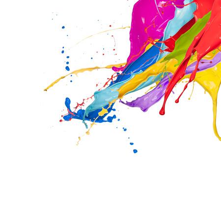 El chapoteo abstracto del color aislada en el fondo blanco Foto de archivo - 66307880