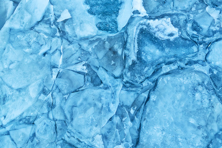 Texture of glacier ice in close-up detail. Realistic ice pattern structure Archivio Fotografico