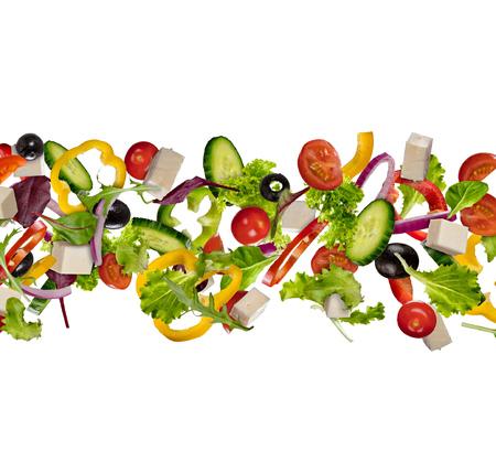 Voler morceaux de légumes isolé sur fond blanc. image haute résolution Banque d'images - 98184568