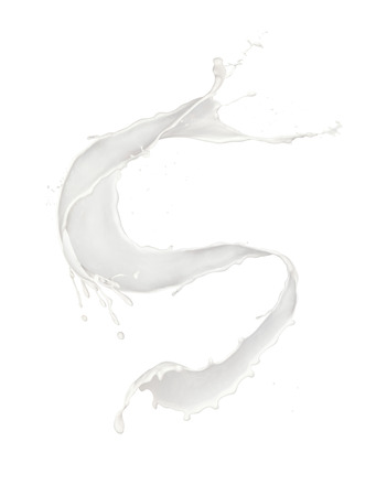 Abstract splash of milk isolated on white background. Banque d'images - 103098309