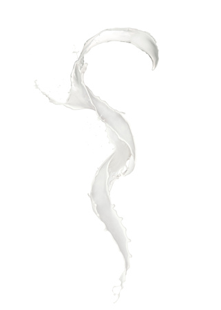 Abstract splash of milk isolated on white background.