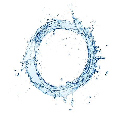 Éclaboussure de vague d'eau isolé sur blanc Banque d'images