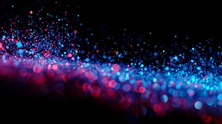 Abstract glittering  in neon lights. 写真素材