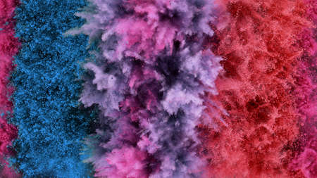 Colorful powder explosion isolated, abstract background 版權商用圖片