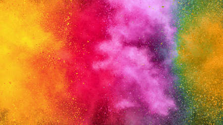 Colorful abstract powder background with color spectrum, vivid colours