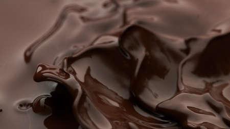 Hot chocolate wavy splash, abstract sweet background
