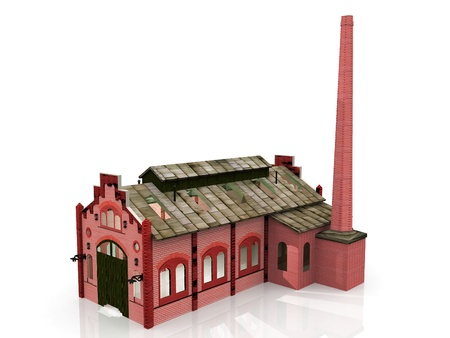 a red brick old factory photo