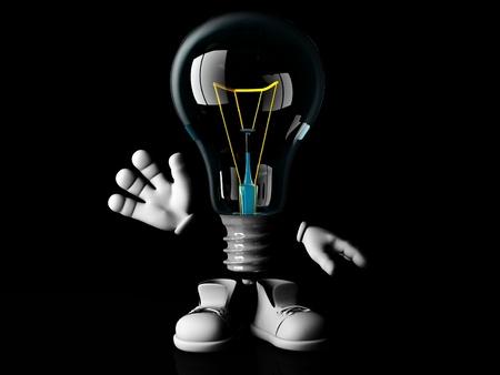 incandescent: goodbye mister incandescent bulb Stock Photo