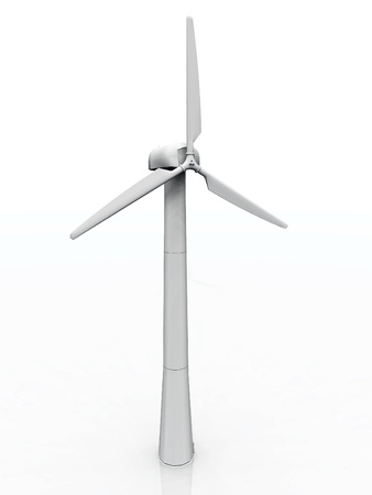 power in nature turbine: a wind turbine on a white background