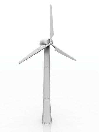 a wind turbine on a white background