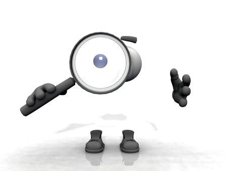 niewidoczny: niewidzialny czÅ'owiek ze szkÅ'em powiÄ™kszajÄ…cym Zdjęcie Seryjne