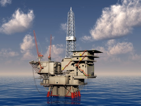 oil platform photo