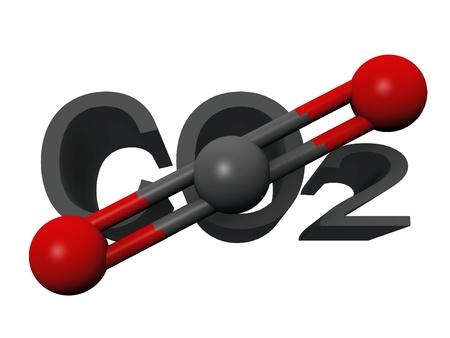 dioxido de carbono: molécula de dióxido de carbono